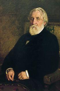 イリヤ・レーピン画『ツルゲーネフ』(1874年)