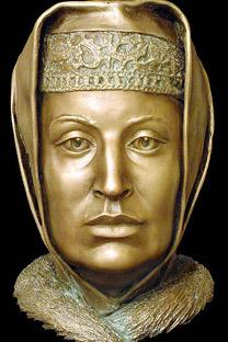 ゾイ・パレオロギナ、頭蓋骨を元に復元された容貌=セルゲイ・ニキチン撮影