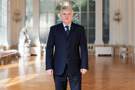 国際連合食糧農業機関(FAO)と国際連合世界食糧計画(WFP)のロシア常任代表であるアレクセイ・メシュコフ氏 =ミカエル・パラッジ撮影