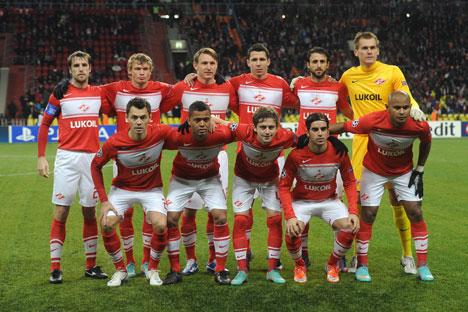モスクワの「スパルタク」サッカー・クラブ =タス通信撮影