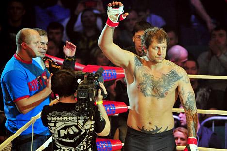 エメリヤーエンコ・アレキサンダー(31)が、総合格闘技組織M1グローバルから除名された =タス通信撮影