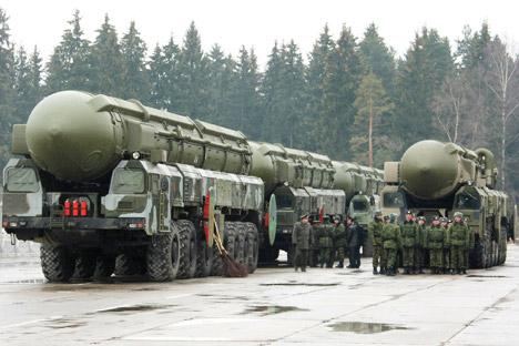 「トーポリM」大陸間弾道ミサイル=タス通信撮影