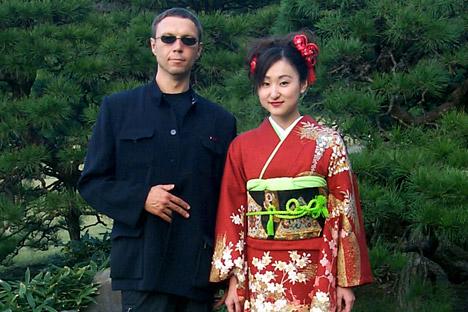 国際シンポジウム「日露作家会議」(東京大学、国際交流基金助成)、2001年=タス通信撮影