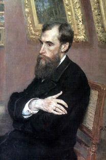 パーヴェル・トレチャコフの肖像(イリヤ・レーピン画、1883年)