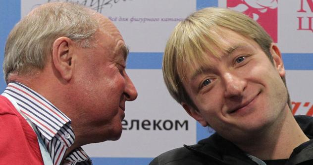 ロシア・フィギュアスケート選手権の記者会見の時 =マキシム・ボゴドヴィッド/ロシア通信撮影