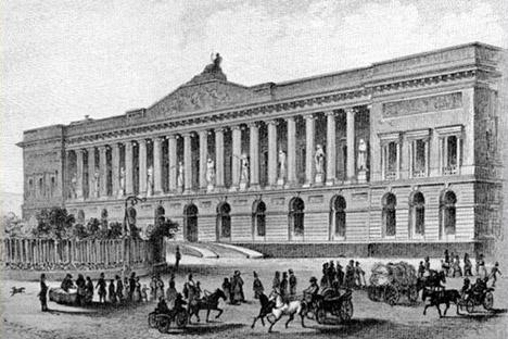 サンクトペテルブルクで帝国公共図書館、19世紀。