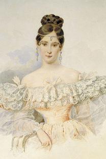 ナターリア・プーシキナ、アレクサンドル・ブリロフ画、1831年。