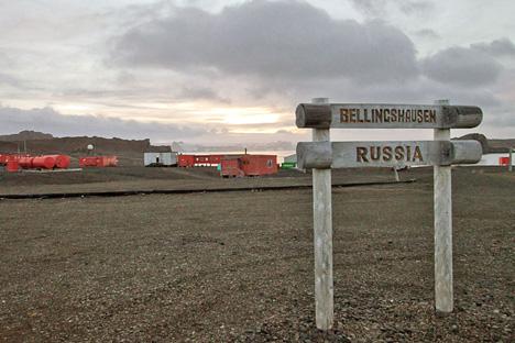 ロシアの南極観測基地「ベリングスハウゼン基地」 =ドミトリー・マロフ撮影