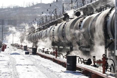 沿海地方、ナホトカ市ターミナル 写真提供:http://www.rosneft.ru