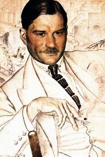 エフゲーニー・ザミャーチン(1923年、ボリス・クストーディエフ画)
