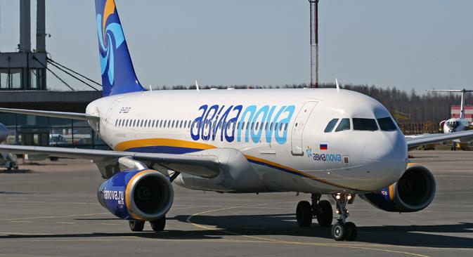 「アヴィアノヴァ」格安航空会社の飛行機 =タス通信撮影