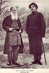 レフ・トルストイとマクシム・ゴーリキー、1900年。