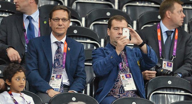 ドミトリー・メドベージェフ氏が大統領に就任し、ロシアのブログ界で情報革命が起こった =コメルサント紙撮影