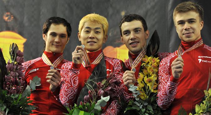 ロシアのショートトラック選手チーム =ロシア通信撮影
