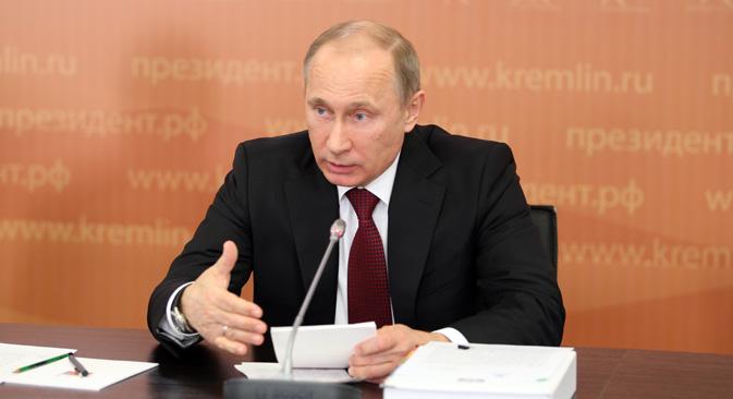 ウラジーミル・プーチン大統領は3月19日、大統領付属スポーツ評議会を召集した。=タス通信撮影