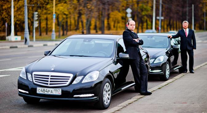 モスクワではメルセデス・ベンツCクラスとEクラスを使用し、運賃も市場価格の2倍に設定している 写真提供:Wheely