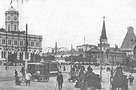 モスクワの路面電車、1910年代。