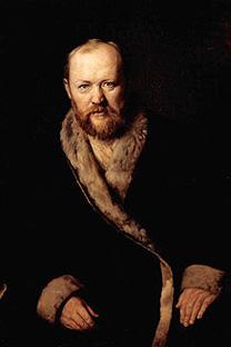 アレクサンドル・オストロフスキーの肖像。ヴァシリー・ペローフ