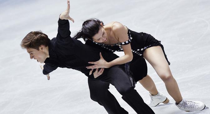 クセニヤ・モニコとキリル・ハリャヴィン組=アレクサンドル・ヴィリフ撮影/ロシア通信