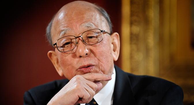 鈴木章氏は日本の化学者、北海道大学名誉教授、日本学士院会員 =AFP/EastNews撮影