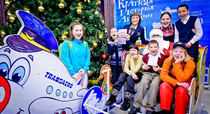 トランスアエロの慈善プログラムは昨年、ロシア第3位に入った。=写真提供:航空会社「トランスアエロ」