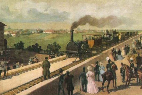 ロシア初の鉄道、1837年。