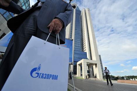 「ガスプロム(Gazprom)」の株価は、1年で3分の1近く落ち込み、時価総額は1000億ドル以下になっている。=ロシア通信撮影