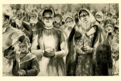 『復活』の挿絵:復活祭のカチューシャ
