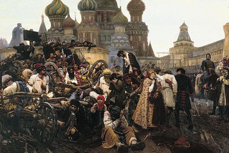 《銃兵処刑の朝》(1881)、ワシーリー・スリコフ
