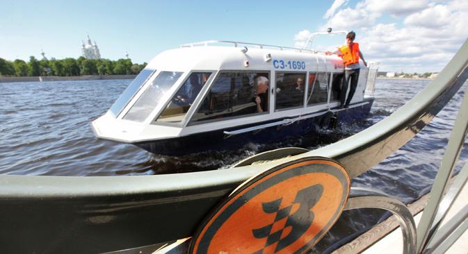 ペテルブルク市初のアクアバスは3年前の2010年に運行を開始した =タス通信撮影