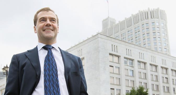 ドミトリー・メドベージェフ首相は5月21日で就任1年目を迎えた =ロイター通信撮影
