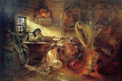 「占い」、1915年 画像提供:liveinternat.ru