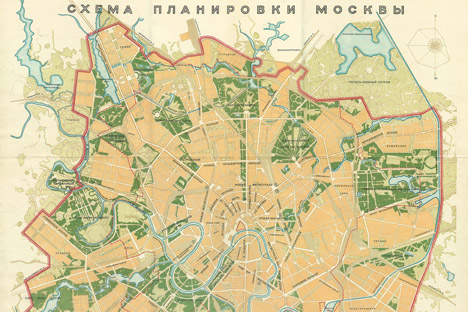 モスクワ改造計画、1935年 写真提供:wikipedia.org