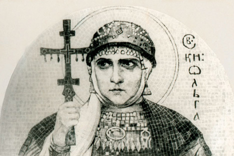 ニコライ・リョーリフ「大公妃オリガ」、1915年 画像提供:wikipedia.org