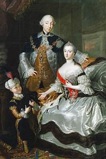 皇帝ピョートル3世とエカテリーナ・アレクセーエヴナ、1756年 画像提供:wikipedia.org