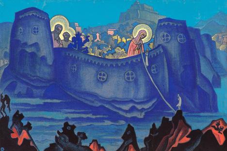 「生神女の働き」 (1931)、ニコライ・リョーリフ