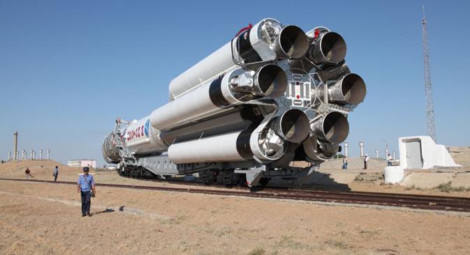 事故が起きた「プロトンM」と「グロナスM」3機の製造および発射準備にかかった費用は、 約44億ルーブル(約132億円) =タス通信撮影