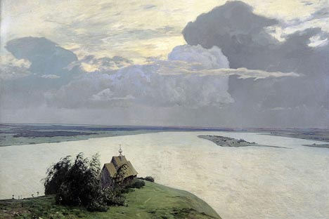 イサーク・レヴィタン「永遠の平和の上に」(1894) 画像提供:wikipedia.org