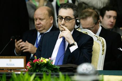 ロシアのイーゴリ・モルグロフ外務次官 =AP通信撮影