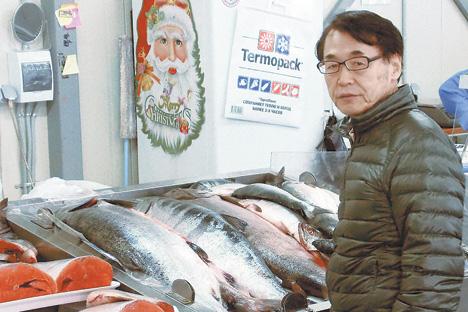 「ロシアでの水産事業は日本企業にとってチャンス」と語る武蔵野和三社長