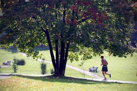 Während der Gorki-Park ähnlich gute Bedingungen biete wie vergleichbare Parks in großen westeuropäischen Städten, seien andere Parks weit weniger sicher und komfortabel. Foto: AP