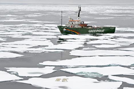 Die Juristen der Umweltschutz-Organisation legen Beschwerde gegen die Festnahme der Greenpeace-Aktivisten ein. Foto: ITAR-TASS