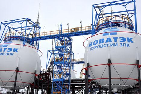 ロシア最大の独立系天然ガス生産・販売会社「ノバテク」は近々、「ヤマルLNG」プロジェクトの投資家探しを終える=タス通信撮影