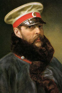 帝室騎馬近衛連隊の軍服を纏ったアレクサンドル2世 画像提供:wikipedia.org