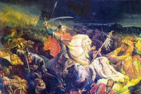 「クリコヴォの戦い」 フランスの画家アドルフ・イヴォンによる絵画 画像提供:wikipedia.org
