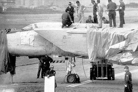 べレンコが亡命に使ったMiG-25P(同型機) =Press photo撮影