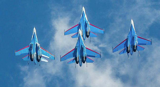 8月27日から9月1日にかけて、モスクワ近郊のジュコフスキー空軍基地で、第11回国際航空ショー「MAKS-2013」が開催された 写真提供:ロシア国防省 / mil.ru