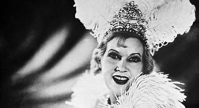 ソ連最初の有名な女性流行歌手と言えば、女優でもあったリュボフィ・オルロワ(1902-1975)=ロシア通信撮影