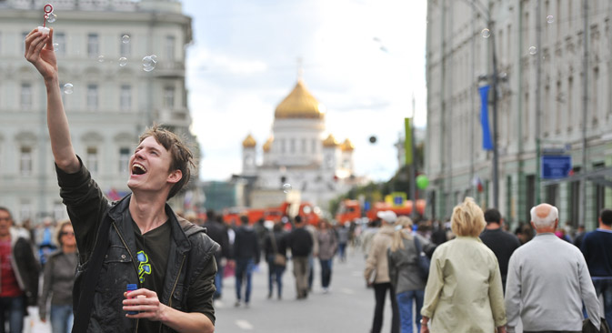 モスクワは、慣例にもとづいて、866歳の誕生日を9月の第一土曜日に祝う =タス通信撮影