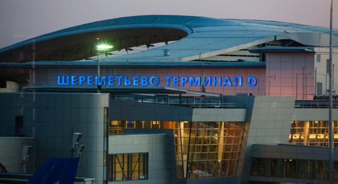 モスクワのシェレメチェボ国際空港=タス通信撮影